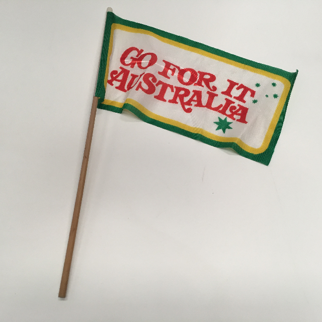 FLA0054 FLAG, Handwaver - Australian Go For It (30 x 15cm) $1.25