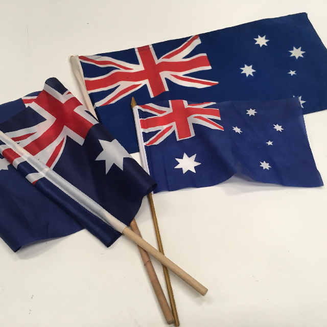 FLA0060 FLAG, Handwaver - Australian Assorted $3.75