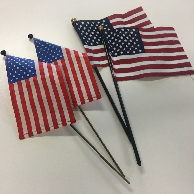 FLA0083 FLAG, Handwaver - USA Extra Small Desk Style Assorted $1