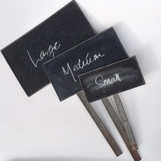 BLACKBOARD, Stick Metal Vintage - Small, Medium, Large $3.75