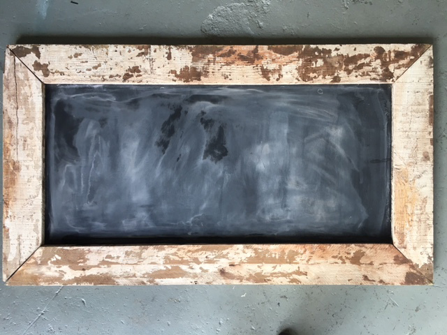 BLA0002 BLACKBOARD, Large in Rustic Frame - 1.5m x 70cm $37.5