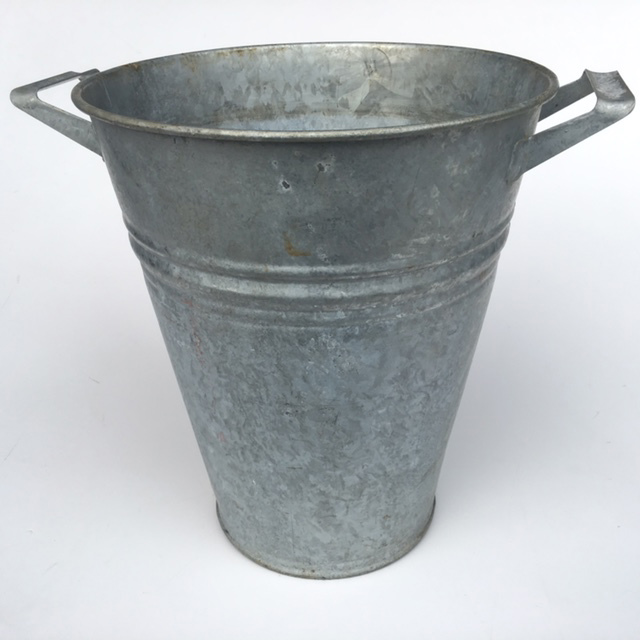 BUC0026 BUCKET, Florist Galvanised - Round Large $3.75