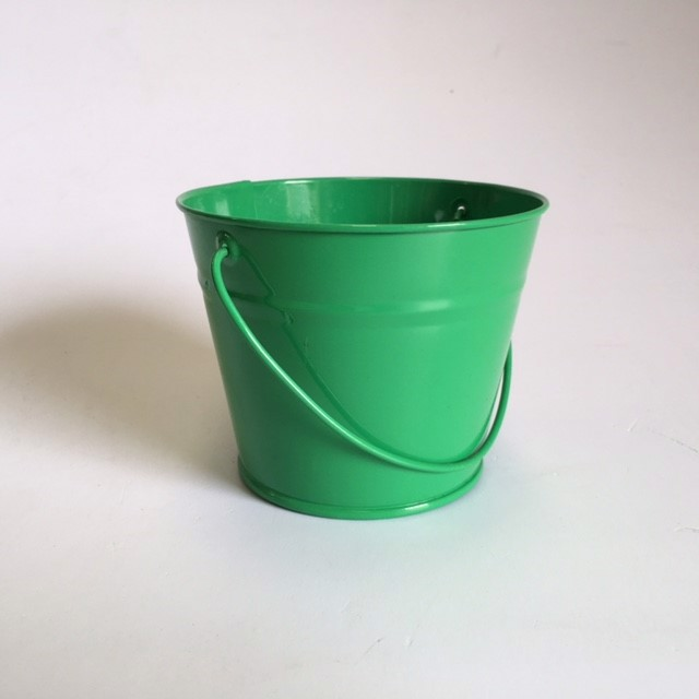 BUC0031 BUCKET, Small Metal - Emerald Green 12cm D x 10cm H $1.50