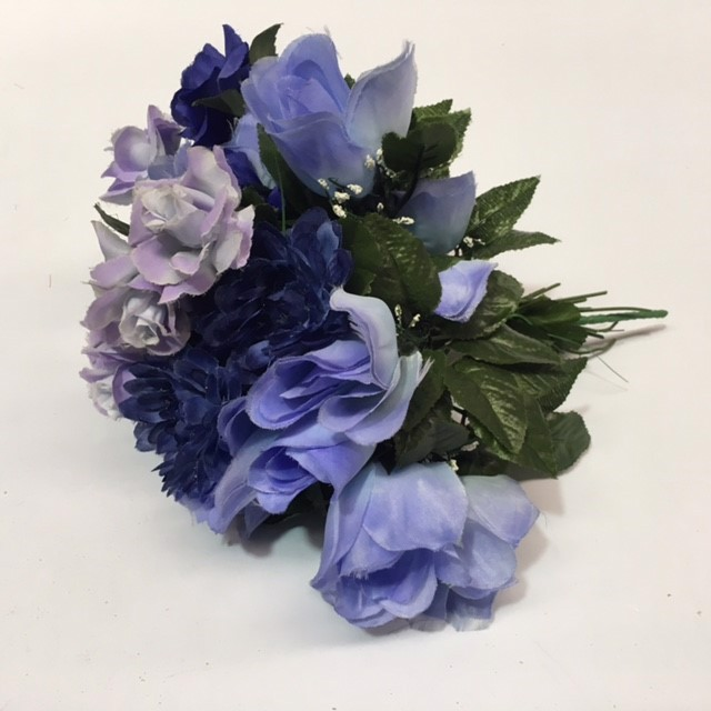 FLO0055 FLORAL, Bouquet - Blue Assorted $7.50