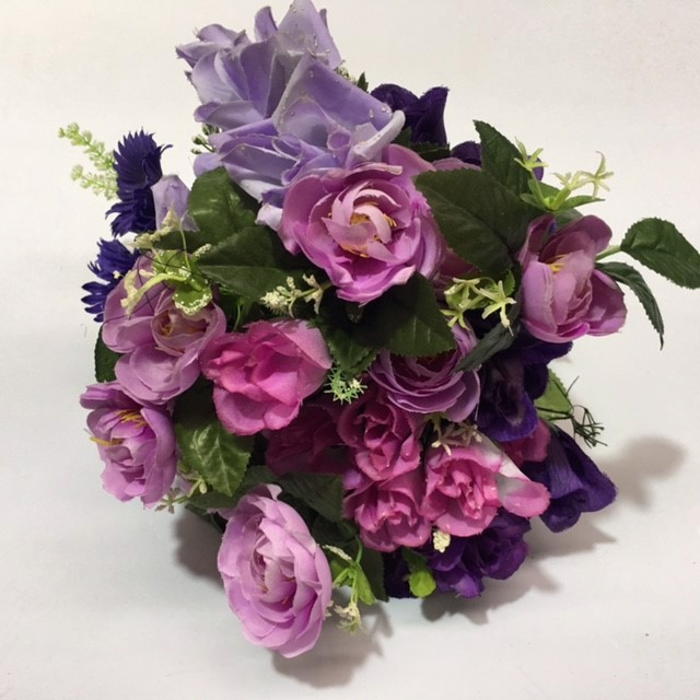 FLO0052 FLORAL, Bouquet - Purple Assorted $7.50