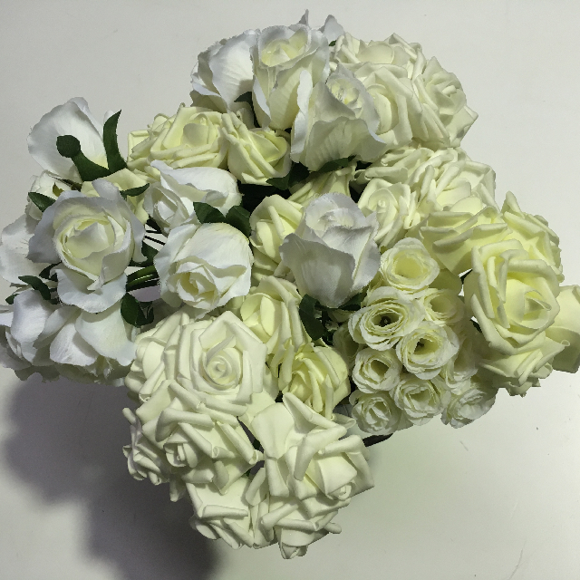FLO0054 FLORAL, Bouquet - White Assorted $7.50
