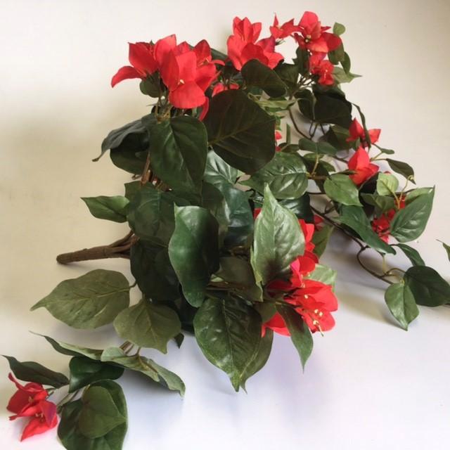 FLO0061 FLOWER SPRAY, Bougainvillea - Red $5