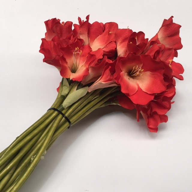 FLO0086 FLOWER, Lily - Red $1.25