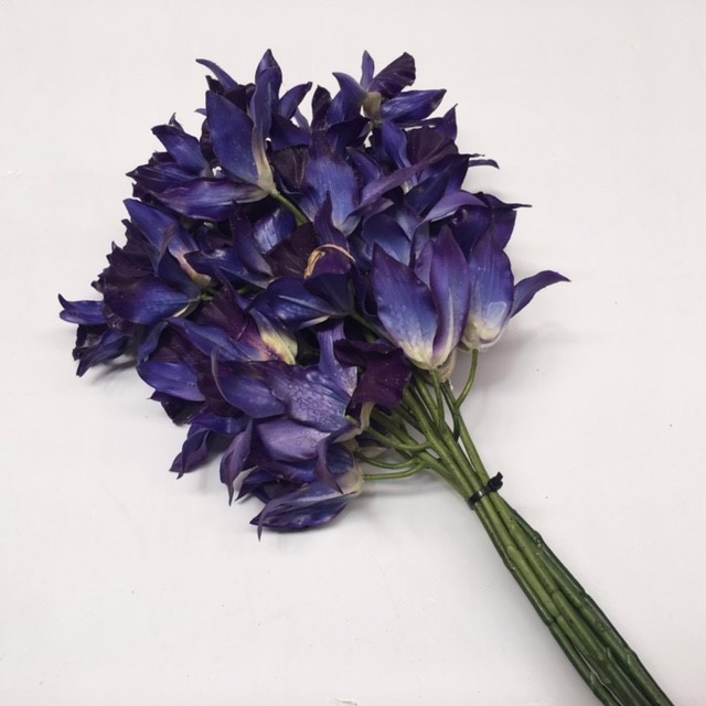 FLO0088 FLOWER, Orchid - Purple Blue $1.25