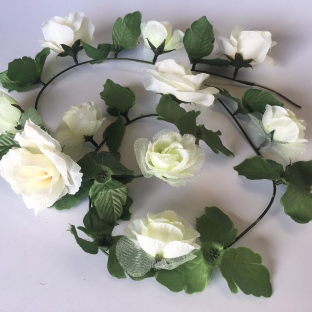 FLO0093 FLOWER, Rose String - White $2