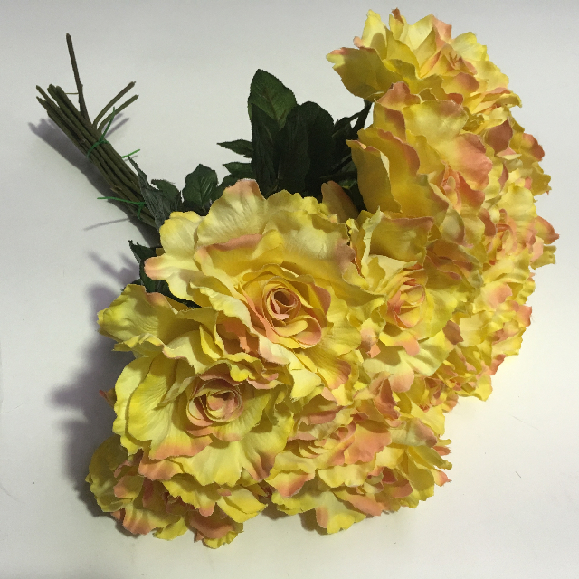 FLO0096 FLOWER, Rose - Yellow Blush $1
