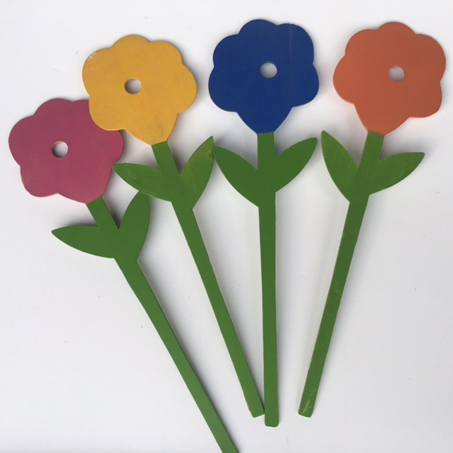 FLO0105 FLOWER, Wooden Decor $0.75