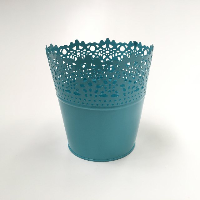 POT0121 POT, Small Planter Pot - Blue Metal Lace $2.50