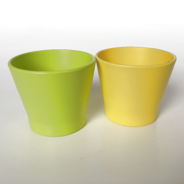 POT0115 POT, Small Coloured Planter Pot 9-15cm $3