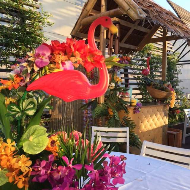 Event Styling - Tropical Flamingo Centrepiece