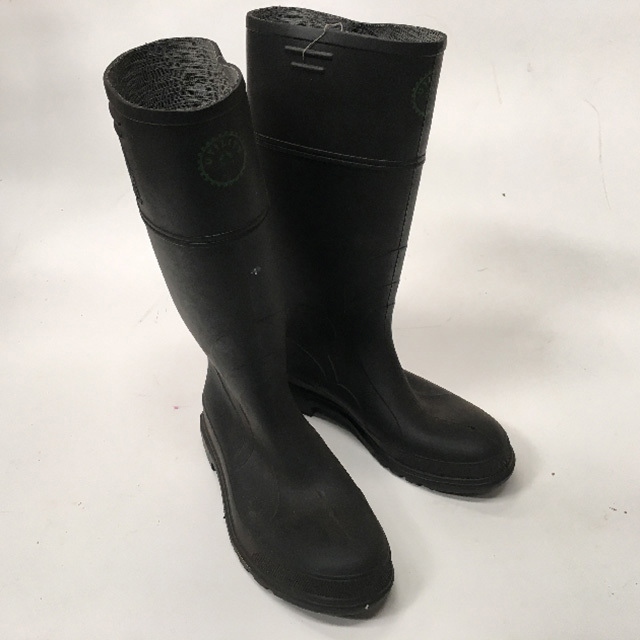 BOO0005 BOOTS, Gumboots Black Long $11.25