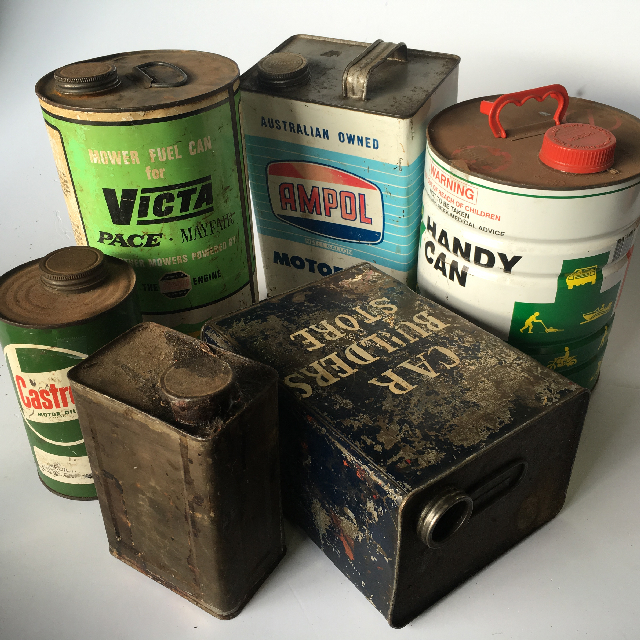 Oil Can and Mower Fuel Collection