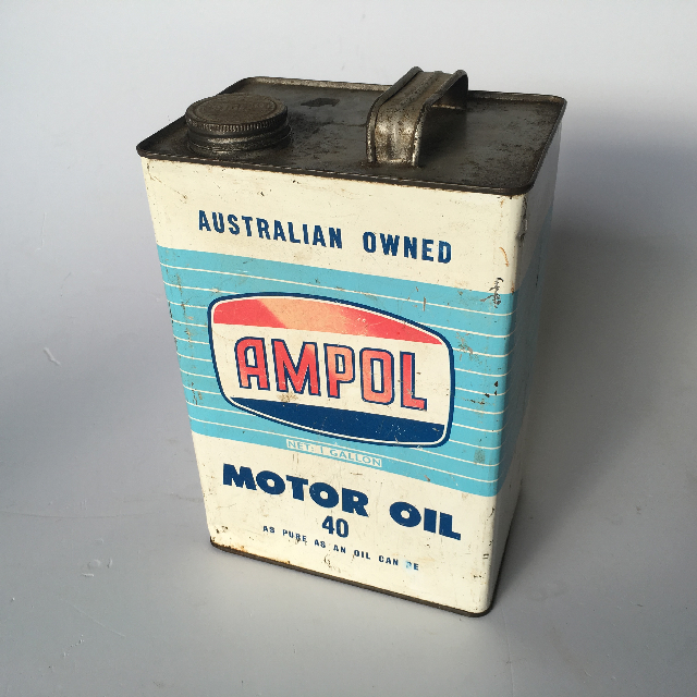CAN0313 CAN, Oil Can - Ampol Motor Oil $10