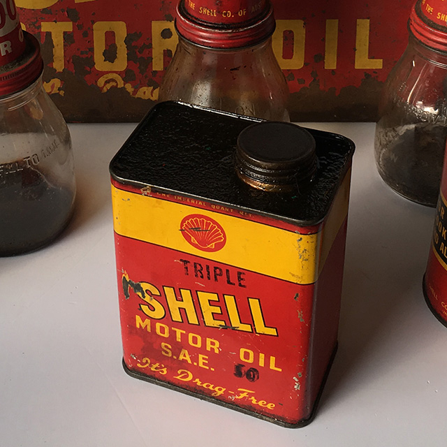 CAN0321 CAN, Oil Can - Shell Motor Oil $13.75