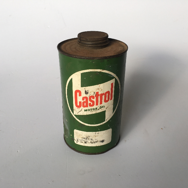 CAN0319 CAN, Oil Can - Round Castrol Green $6.25