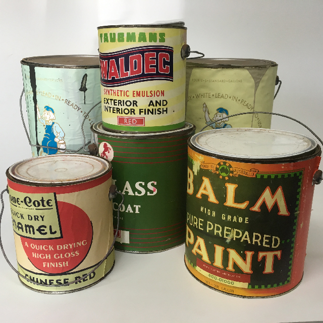 Paint Cans - Labelled Generic Small, Medium & Large $5 - $7.50