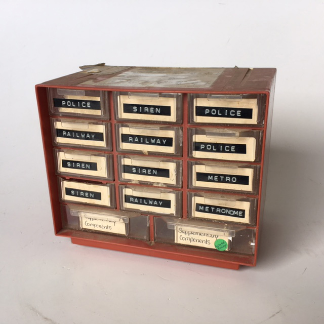ORG0002 ORGANISER, Copper Coloured w Drawers $13.75
