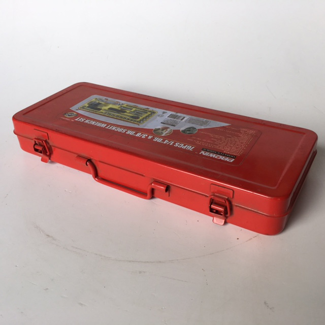 TOO0021 TOOL BOX, Small Red Socket Case $6.25