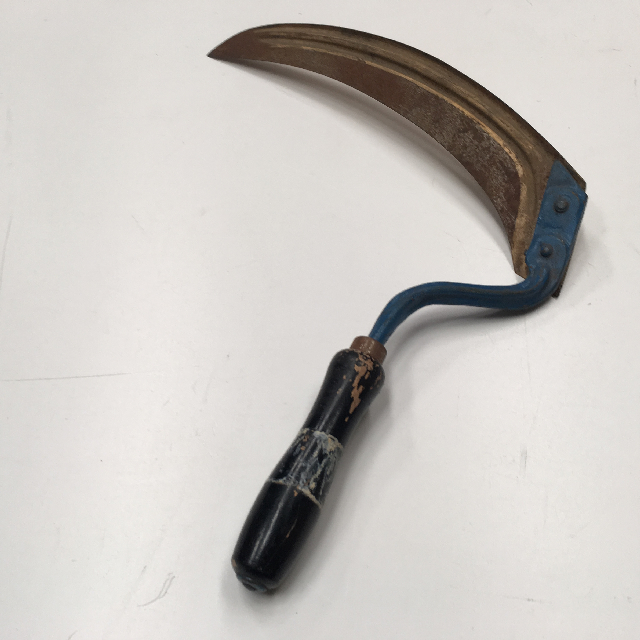 TOO0092 TOOL, Sickle - Blue Handle $10