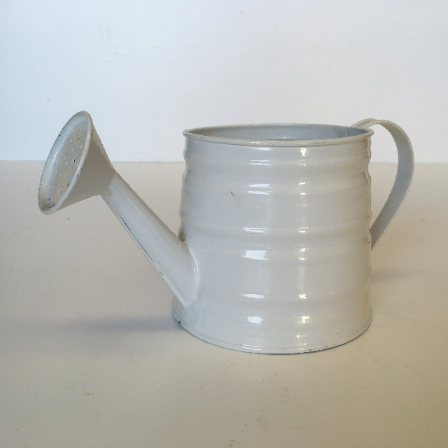 WAT0107 WATERING CAN, White Metal - Small $3.75