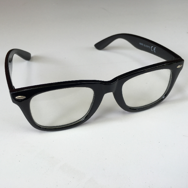 GLA1005 GLASSES, Novelty Black Rim 1950s $10
