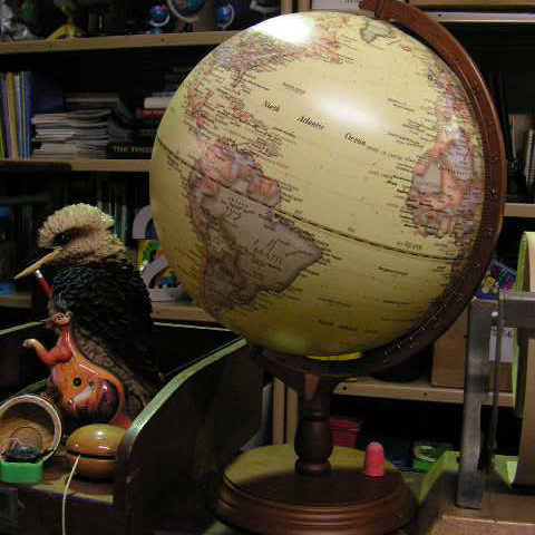 Event Styling - Globes in Classroom