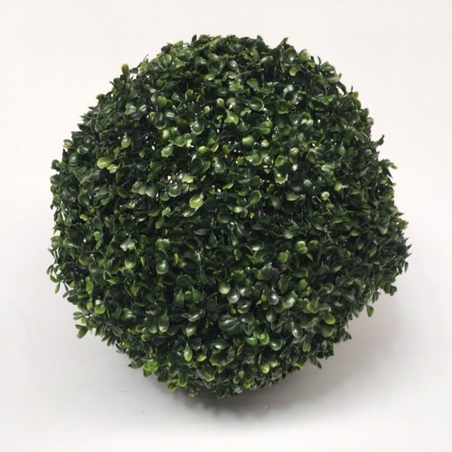 GRE0020 GREENERY, Topiary - Boxwood Ball 35cm Dia (2 Halves) $6.25