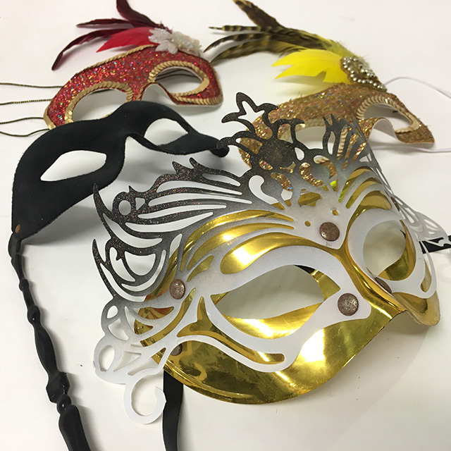 COS0004 COSTUME PROP, Masquerade Mask (Assorted) $3.75