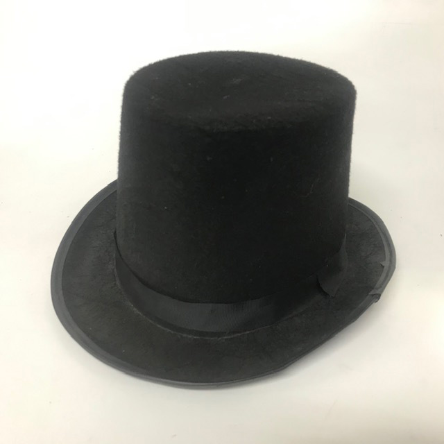 HAT0015 HAT, Top Hat Black Felt $3.75