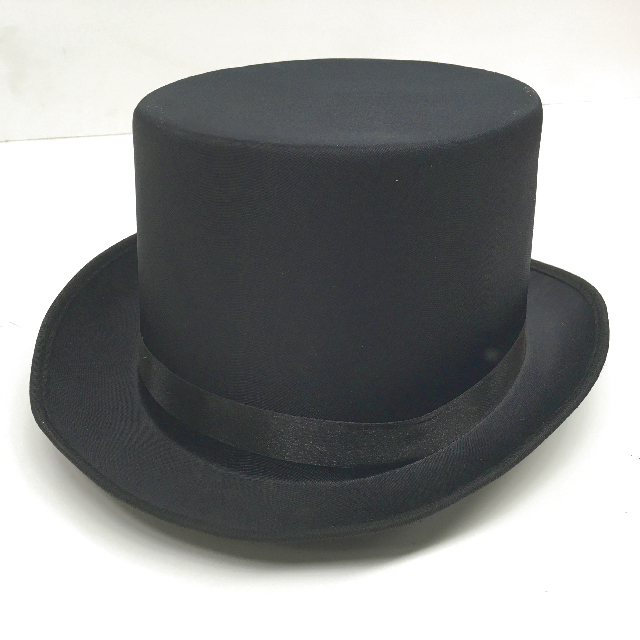 HAT0014 HAT, Top Hat Black Satin Large $5
