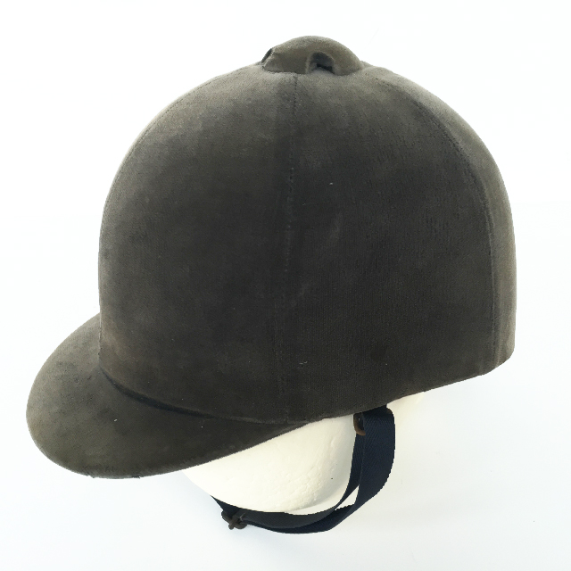 HEL0050 HELMET, Riding Hat - Faded Blue Velvet $15