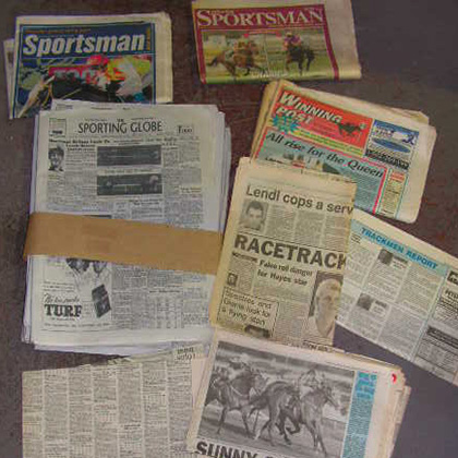 NEW0001 NEWSPAPER, Horse Racing Assorted $1.25