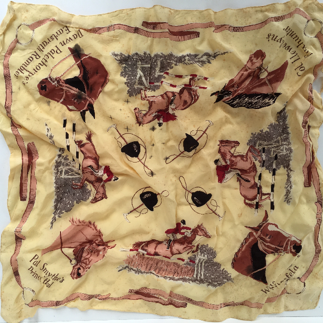 SCA0001 SCARF, 1950's Horse Riding Wear $6.25