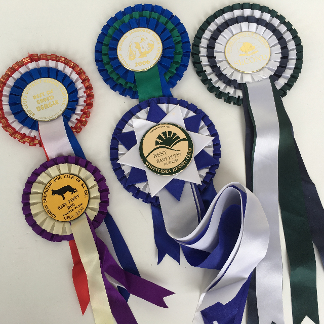 AWA0007 AWARD RIBBON, Rosette Dog Show $3.75