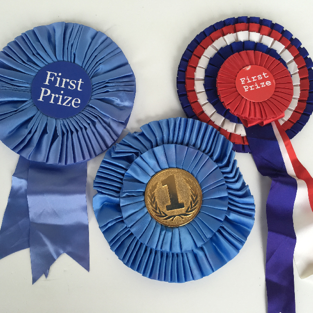 AWA0008 AWARD RIBBON, Rosette First Place $3.75