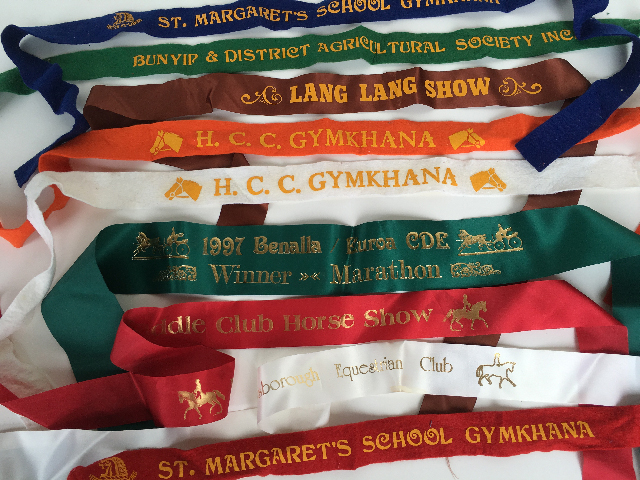 AWA0013 AWARD RIBBON, Horse & Gymkhana Plain $2.50