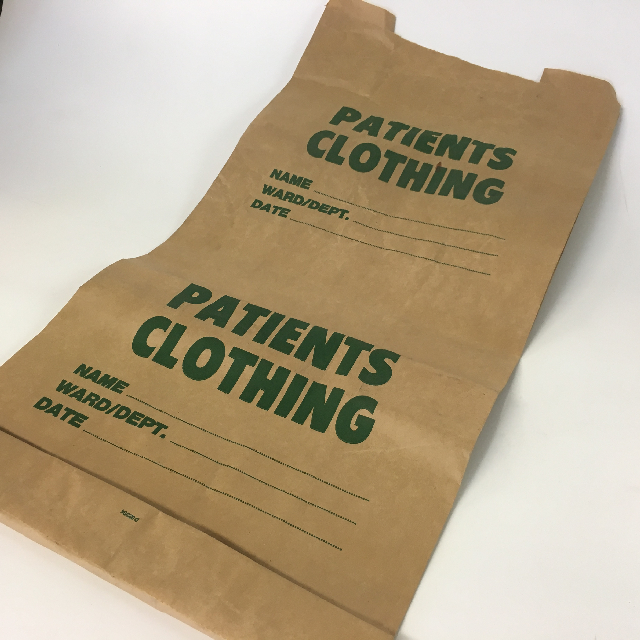 BAG0101 BAG, Patients Clothing - Brown Paper $5