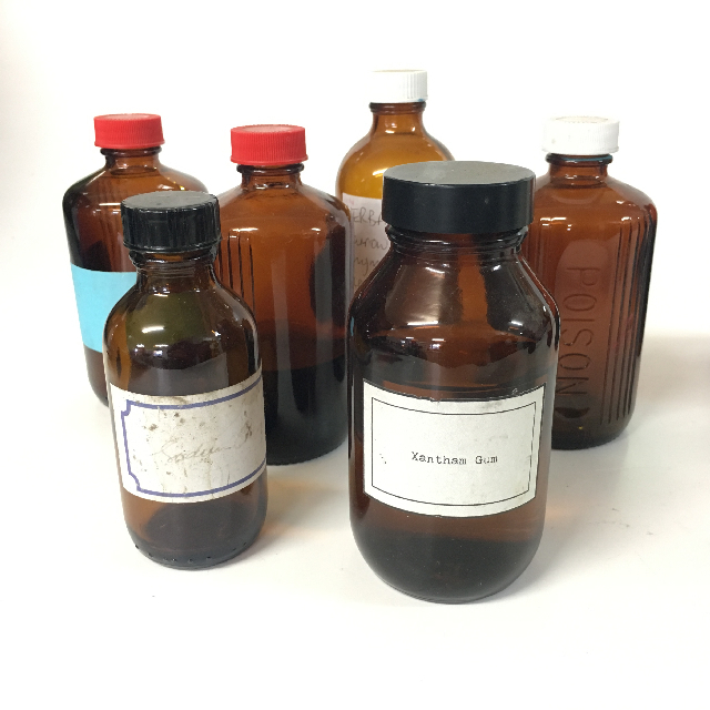 BOT0159 BOTTLE, Medical - Small Brown Glass Assorted $1