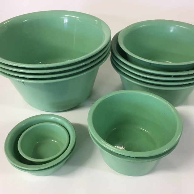 Green Plastic Bowls - Extra Small - Large $2.50 - $4.50