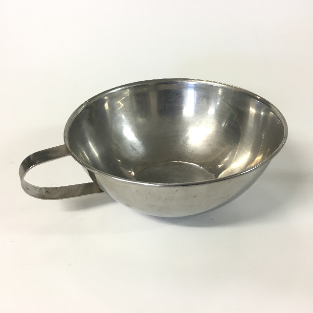BOW0015 BOWL, Stainless Steel w Handle $4.50