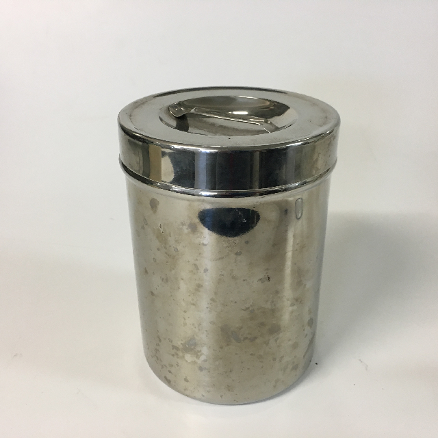 CAN0108 CANNISTER, Medical - Stainless Steel w Lid $6.25