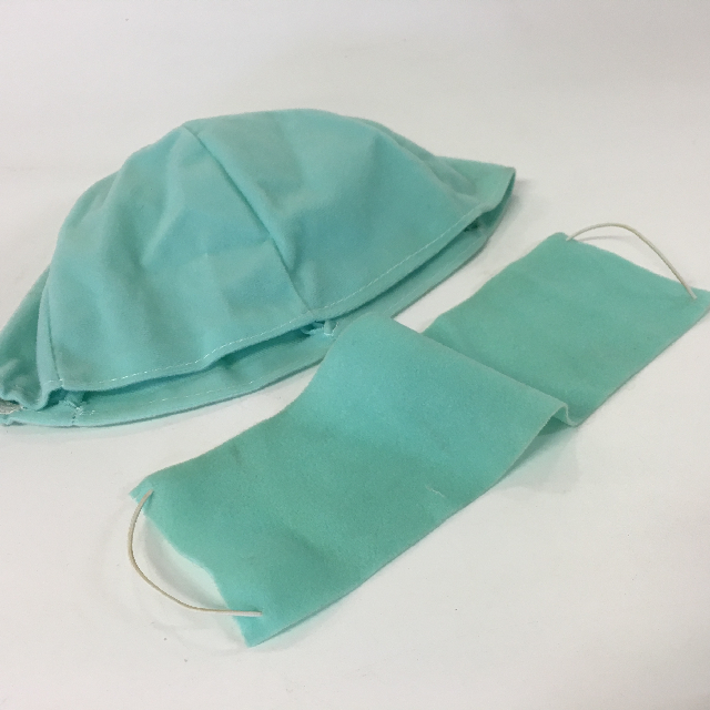 CLO1013 CLOTHING, Cap & Mask Set - Green Surgical $11.25