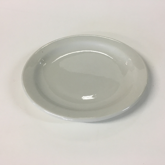 CRO0007 CROCKERY, Side Plate - White Cafeteria Style $1