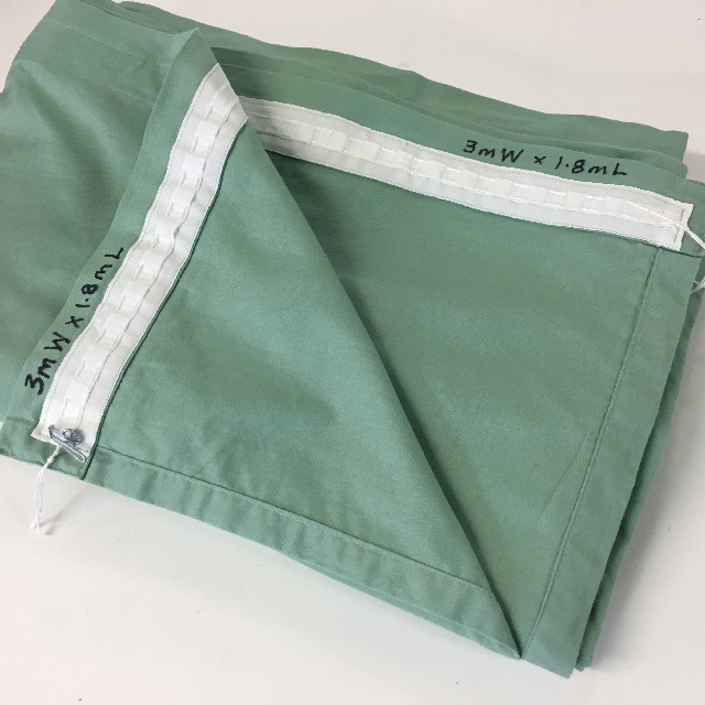 CUR0019 CURTAIN, Hospital Theatre or Privacy - Green 3m W x 1.8m L $25