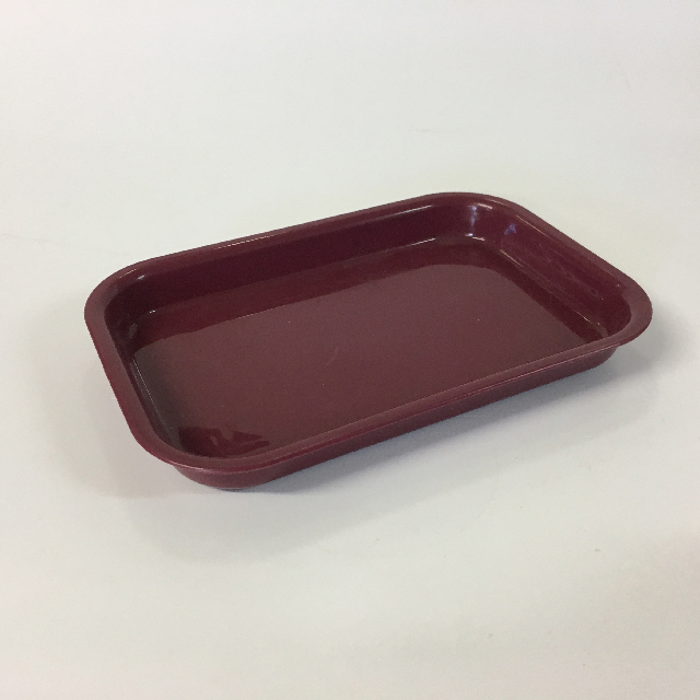 HOS0007 HOSPITAL FOOD CONTAINER, Burgundy Set - Small Tray $2.50